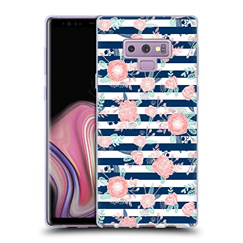 (Official Charlotte Winter Peony Stripes Floral Soft Gel Case for Samsung Galaxy Note9 / Note 9)