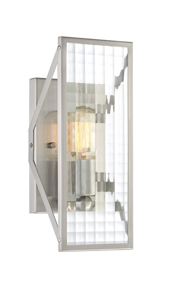 Designers Fountain 88801-SP 1 Light Wall Sconce, Satin Platinum