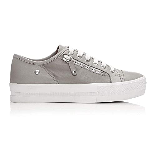 d7f189a6e70 Moda In Pelle Fianno Light Grey Leather  Amazon.co.uk  Shoes   Bags