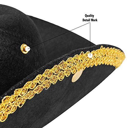 Revolutionary War Hat - Colonial Hat - Tricorn Hat - - Import It All abd29a7dff2