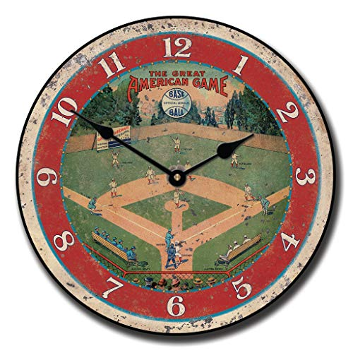 - Field Dreams Baseball Wall Clock, Available in 8 Sizes, Whisper Quiet, Non-Ticking