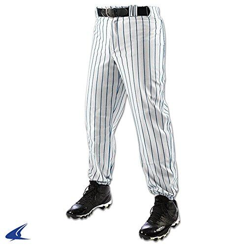 PIN Stripe Baseball Pant BPPIN Youth White, Navy PIN XL ()