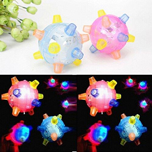 HuntGold 1X Child Kid Xmas Christmas Flashing And Bouncing Bumble Ball Toy Gift(random)