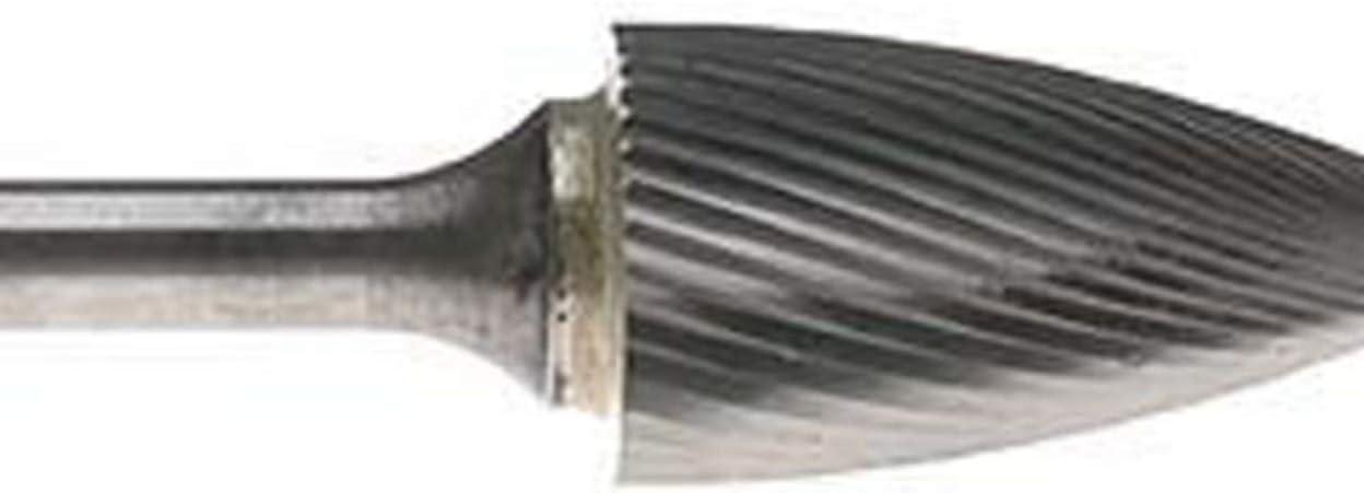 SG-13 Tree Pointed Shape Carbide Burr Die Grinder Bit Double Cut