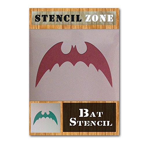 Bat Halloween Mylar Painting Pumpkin Wall Art Stencil Three (A4 Size Stencil - Small) ()