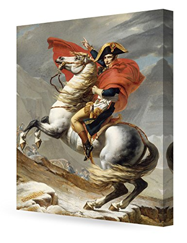 David Reproduction (DecorArts - Napoleon Crossing The Alps, Jacques Louis David Art Reproduction. Giclee Canvas Prints Wall Art for Home Decor 30x24