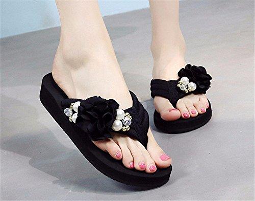 sandalias FLYRCX sandalias sandalias flip flops dama elegante Verano e playa de zapatillas qxRrq6vF