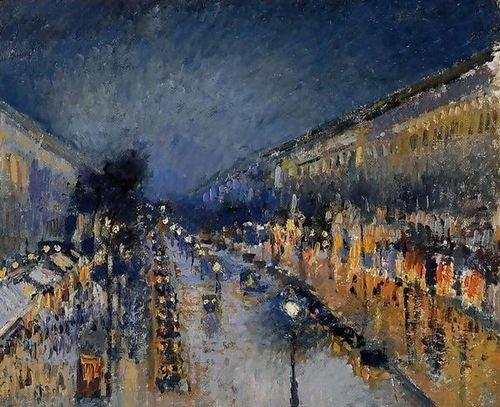 - Camille Pissarro Boulevard Montmartre; Night Effect 49x40 [Kitchen]