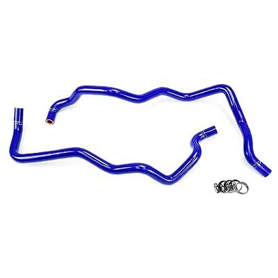 HPS 57-1220H-BLUE Blue Silicone Heater Hose Kit (Coolant): Automotive