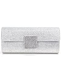 Nodykka Wedding Evening Party Clutch Bag Sequins Rhinestone Cross Body Handbag Purse