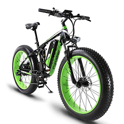 (ZDDOZXC XF800 26inch Fat Tire Electric Bike 1000W 48V Snow E-Bike 7 Speeds Beach Cruiser Mens Women Mountain e-Bike Pedal Assist, Lithium Battery Hydraulic Disc Brakes)