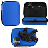 Navitech Blue Heavy Duty Rugged Hard Case/Cover Compatible With The Accfly 4K Sport Action Camera 12MP WiFi UHD Cam