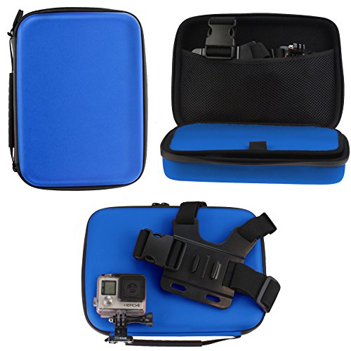 Navitech Blue Heavy Duty Rugged Hard Case/Cover Compatible With The ICONNTECHS IT Ultra HD 4K Sports Action Camera