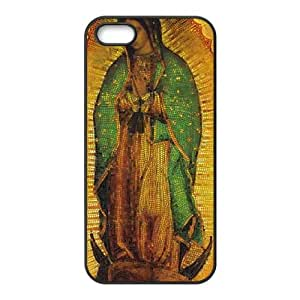 iPhone 5 5s Cell Phone Case Black Our Lady of Guadalupe Mosaic U6M5DD