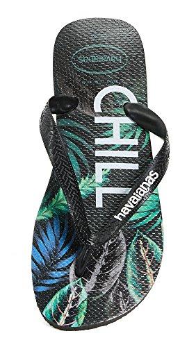 Havaianas Heren Top Tropische Sandalen Zwart