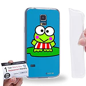 Case88 [Samsung Galaxy S5 Mini] Gel TPU Carcasa/Funda & Tarjeta de garantía - Kero Kero Keroppi Collection 1339