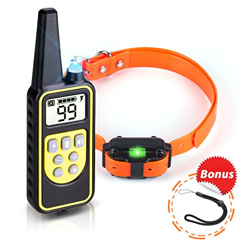 Dog Shock Collar with Remote, BeePErfecT Shock Collar for Dogs 100% Waterproof Rechargeable with Beep Light Vibration and Shock Mode, Dog Training Collar fit Small Medium and Large Dogs