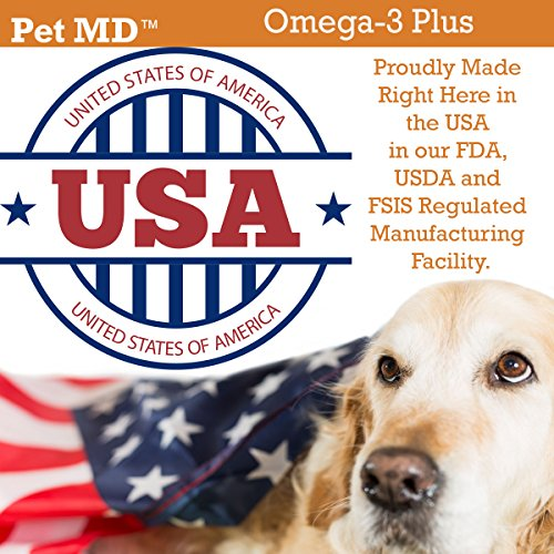 Pet-MD-Omega-3-for-Dogs-Fish-Oil-for-Dogs-with-Krill-Oil-and-Fatty-Acids-for-Skin-and-Coat-Health-60-Softchews-for-Small-Dogs-and-Cats