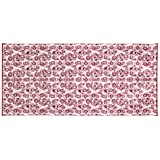 Camco Burgundy Swirl 42842 Awning Leisure Mat 8' X 16'