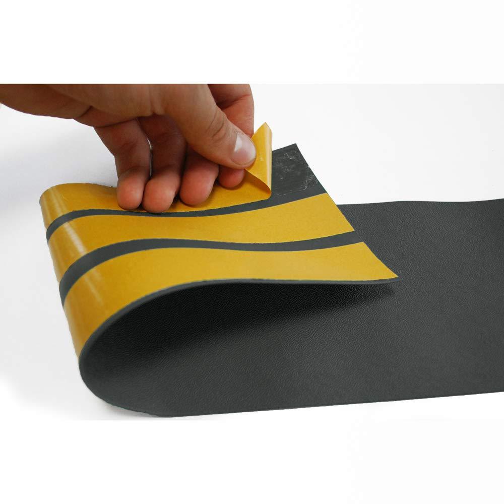 Sossai/® Protezione murale flessibile SERPENT Altezza 11 cm Protezione dei bordi Pellicola di protezione murale Paraspigoli Lunghezza 1 metro colore: grigio chiaro