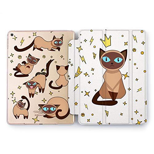 Wonder Wild Princess Cat iPad Pro Case 9.7 11 inch Mini 1 2 3 4 Air 2 10.5 12.9 2018 2017 Design 5th 6th Gen Clear Smart Hard Cover Cute Meow Kitty Girly Pattern Paws Stars Tonkinese Birman Fur