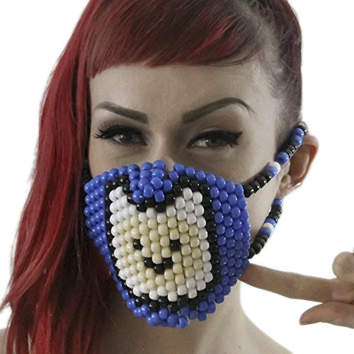 Finn The Human Costumes (Finn The Human Surgical Kandi Mask by Kandi Gear)