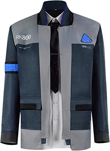 Amazon Com Voste Become Human Jacket Halloween Connor Cosplay Costume Full Set Coat For Men Clothing