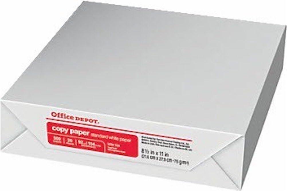 Office Depot 8.5X11 Inch Letter Size Acid Free Laser Inkjet Paper, Bright White, 500 Sheets