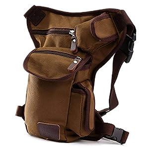 ELEGIANT - Riñonera deportiva de pernera, bolsa para uso diario, con múltiples bolsillos, monedero de seguridad para… 22