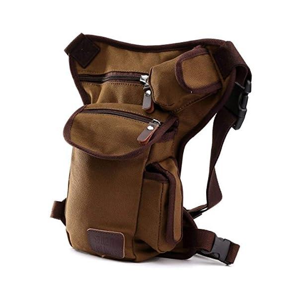 ELEGIANT - Riñonera deportiva de pernera, bolsa para uso diario, con múltiples bolsillos, monedero de seguridad para pierna, para viajes, escalada, ciclismo y correr, cinturón de fijación con longitud ajustable 1