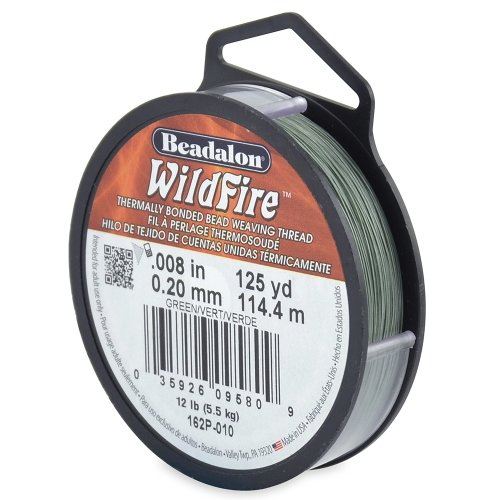 Beadalon 162P-010 Wildfire .008-Inch Green, 125-Yard