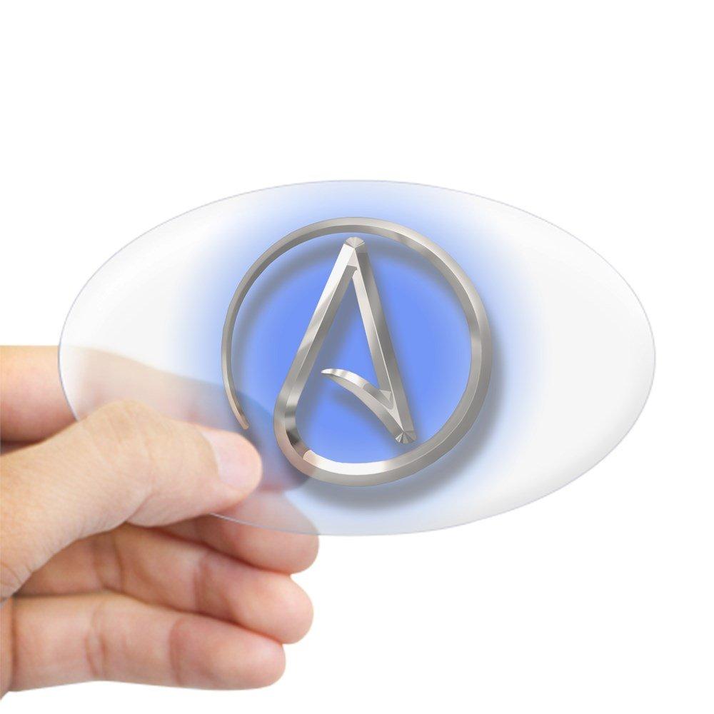 CafePress - Atheist Logo (blau) Aufkleber (Oval) - oval Bumper ...