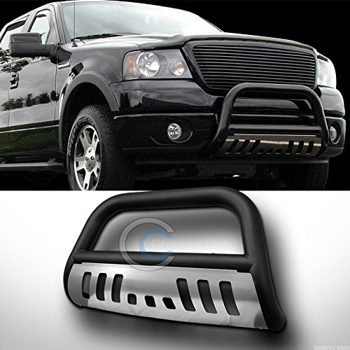 HS Power Matte Black HD Heavy Duty Steel Bull Bar for Ford F150 Expedition 1997-2003 Brush Push Front Bumper Grill Grille Guard with Skid ()