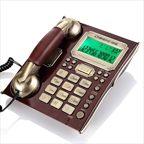 (ZHANGLIXIANG XYLS Telephone Caller ID Fashion Landline Corded Phone Office Desk Phone Wall-mounted European Retro Home Wired Fixed Business Office Stand-alone Antique Telephone)
