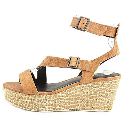 Elie Tahari Mustique Donna Open Toe Platform In Pelle Sandalo Crema