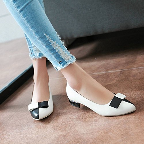 Toe Colors Assorted Low Heel Shoes Pumps Bows Loafers Womens Pointed White Fashion Carolbar XwqWxHfASW
