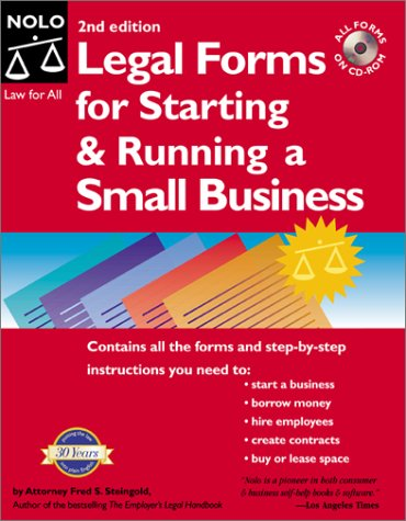 Legal Forms For Starting And Running A Small Business Nd Ed - Where to buy legal forms