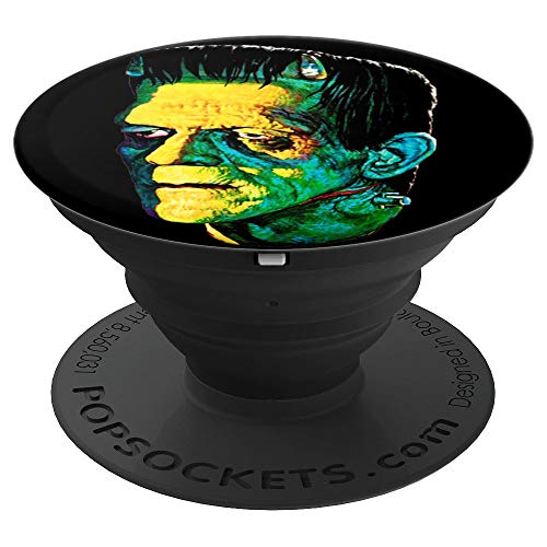 Vintage Frankenstein Halloween Party Horror Movie - PopSockets Grip and Stand for Phones and Tablets]()