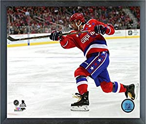 "Alex Ovechkin Washington Capitals 2015-2016 NHL Action Photo (Size: 12"" x 15"") Framed"