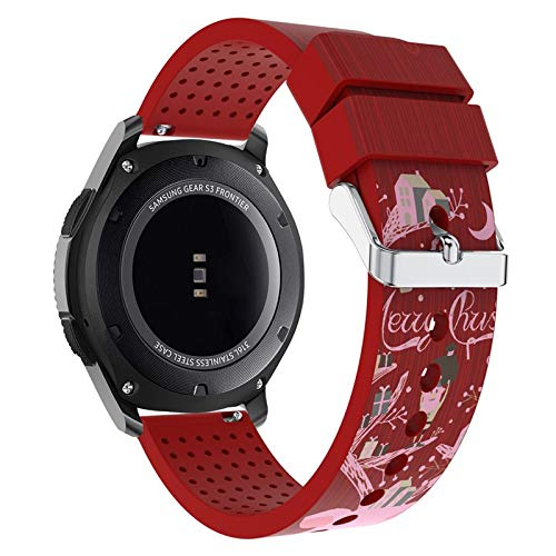 Amazon.com: Jewh Watch Band Sports - Christmas Elderly Silicone Bracelet - Strap Band for Samsung Gear S3 Frontier N.22 - Samsung Smart Watch Band: Cell ...