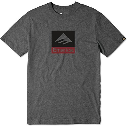 Emerica Combo (Emerica Combo Short Sleeve T-Shirt Small Charcoal Heather)