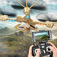 Kingtoys MJX X401H FPV Drone with 0.3MP Camera RC Wifi Quadcopter Helicopter 2.4GHz 4 Channel 6 Axis Gyro Aircraft Drone Gold