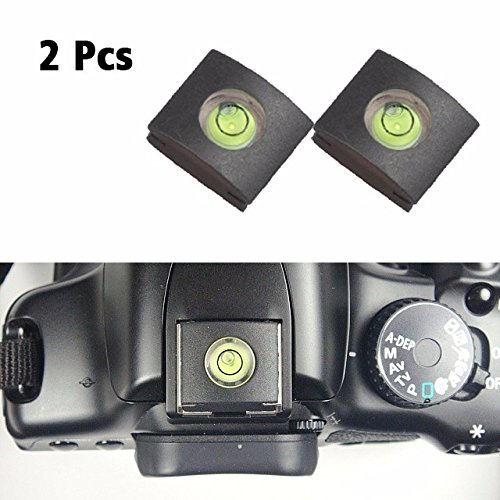 4Pack Camera Hot Shoe Cover with Bubble Spirit Level for Canon Nikon Panasonic Fujifilm Olympus Pentax Sigma DSLR//SLR//Evil Camera