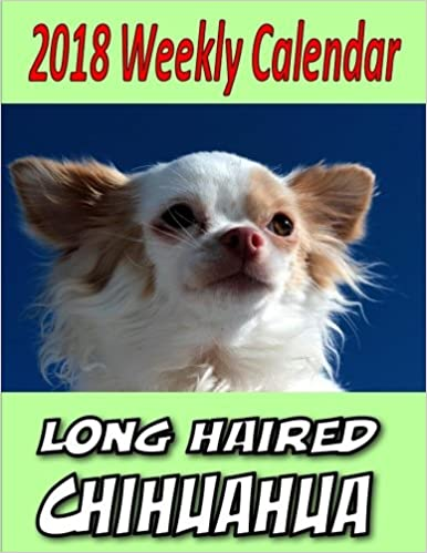 2018 Weekly Calendar Longhaired Chihuahua Puppy Times