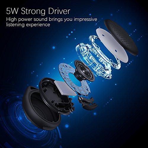 Shower - IP67 Bluetooth Speaker, Portable Speaker Enhanced Bass Mic, Mini with Home