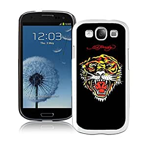 Fahionable Custom Designed Samsung Galaxy S3 I9300 Cover Case With Ed Hardy 30 White Phone Case