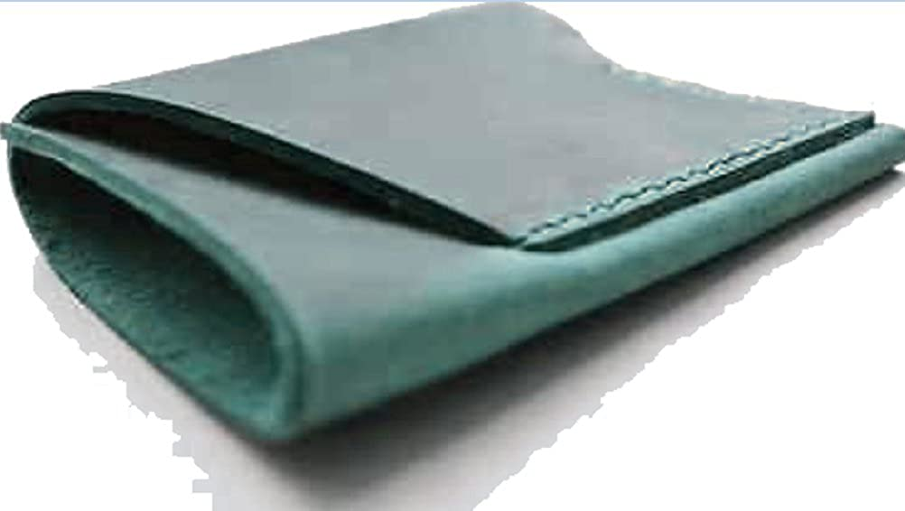 Wallet purse for men women cow Leather Card Cases ID Holder bag handmade green A018