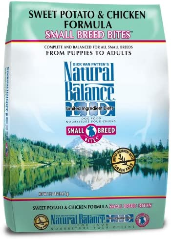 Natural Balance L.I.D. Limited Ingredient Diets Sweet Potato And Chicken Small Breed Bites Formula For Dogs, 12-1 2-Pound Bag