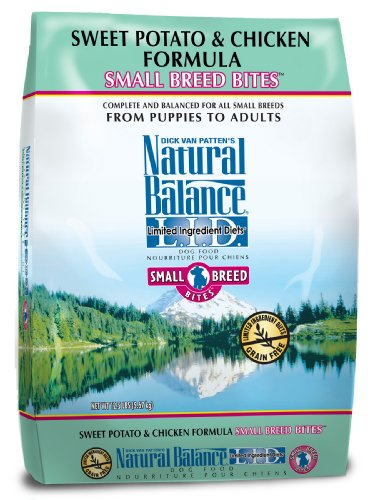 Natural Balance L.I.D. Limited Ingredient Diets Sweet Potato and Chicken Small Breed Bites Formula for Dogs, 12-1/2-Pound Bag
