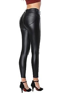 8754cad7f0607b GUTSBOX Damen Lederhose Stretch Skinny Leggings High Waist Hose Smooth  Strumpfhose Kunstleder Hose